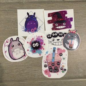 Transparent vinyl studio ghibli stickers